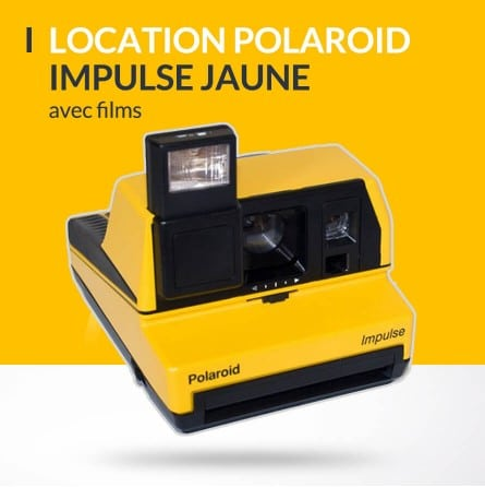 Location polaroid impulse jaune