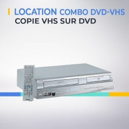 Location magnetoscope combo VHS sur DVD