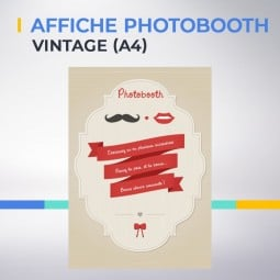 Affiche photobooth vintage A4